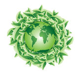 Planet with leaves Royalty Free Stock Photo