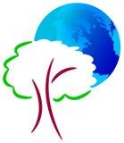 Glob e árvore Foto de Stock