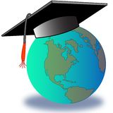 Glob graduato fotografie stock libere da diritti