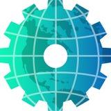 Glob na engrenagem Imagem de Stock