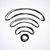Sign of Wi-Fi. Vector drawing Stock Photos
