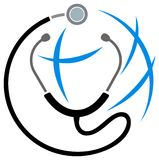 Glob and stethoscope Stock Images