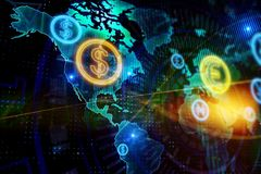 Globaal bedrijfs en financiënconcept vector illustratie