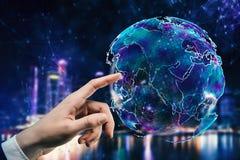Globaal bedrijfs en netwerkconcept Stock Fotografie