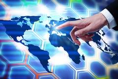 Globaal bedrijfs en reisconcept Stock Afbeeldingen