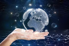 Globaal bedrijfs en wetenschapsconcept Royalty-vrije Stock Foto
