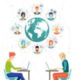 Globaal bedrijfsconcept royalty-vrije illustratie