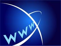 Globaal Bereik door World Wide Web stock illustratie