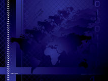 Globaal blauw als achtergrond stock illustratie