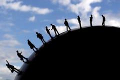 Globaal commercieel team Stock Afbeeldingen