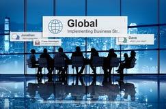 Globaal Communautair Communicatie Concept Wereldwijd Stock Foto