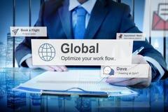 Globaal Communautair Communicatie Concept Wereldwijd Royalty-vrije Stock Foto
