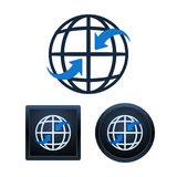Globaal communicatie pictogrammenontwerp, geïsoleerde illustraties Stock Fotografie