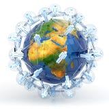 Globaal communicatienetwerk royalty-vrije illustratie