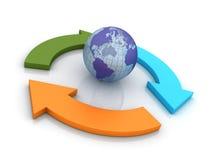 Globaal concept vector illustratie