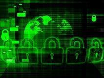 Globaal Cyber-veiligheidsconcept Royalty-vrije Stock Fotografie