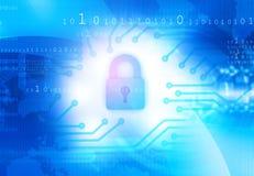 Globaal Cyber-veiligheidsconcept Royalty-vrije Stock Afbeeldingen