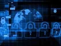 Globaal Cyber-veiligheidsconcept Stock Afbeeldingen