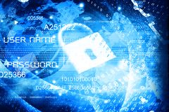 Globaal Cyber-veiligheidsconcept Royalty-vrije Stock Foto's