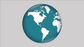 Globaal de bolnieuws van de aardeplaneet stock illustratie