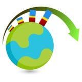 Globaal de Groeipictogram Stock Afbeelding