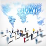 Globaal de Investerings Divers Etnisch Concept van de Bedrijfssuccesgroei royalty-vrije stock foto