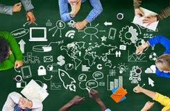 Globaal de Markt Commercieel Concept van de Bedrijfslevenorganisatie Royalty-vrije Stock Afbeeldingen