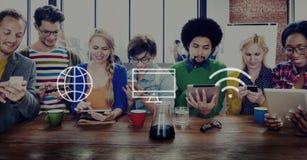 Globaal Digitaal Modern Verbindingsconcept Wereldwijd stock afbeeldingen