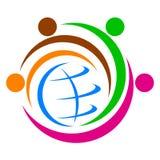 Globaal diversiteitsembleem stock illustratie
