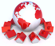 Globaal Dorp Stock Foto's
