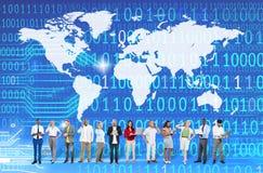 Globaal Eenheid het Sociale Verzamelen zich Communautair Concept wereldwijd Royalty-vrije Stock Afbeelding