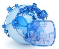 Globaal gegevensbestand stock illustratie