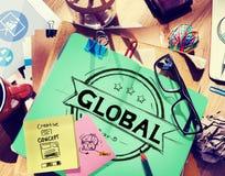 Globaal Globaliserings Communautair Communicatie Concept Stock Foto's