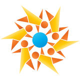 Globaal groepswerk Royalty-vrije Stock Afbeelding