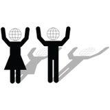 Globaal groepswerk Stock Foto