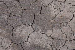 Globaal het verwarmen en milieuconcept - barst op grond zonder vochtigheid en regen stock afbeelding