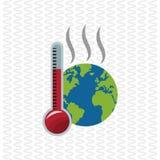 Globaal het verwarmen ontwerp Milieupictogram Het concept van de ecologie Royalty-vrije Stock Fotografie