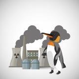 Globaal het verwarmen ontwerp Milieupictogram Het concept van de ecologie Stock Afbeelding