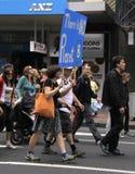 Globaal het verwarmen protest maart stock foto's