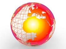 Globaal het verwarmen van Afrika concept Royalty-vrije Stock Fotografie
