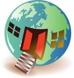 Globaal huis vector illustratie