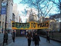 Globaal Klimaat Maart en de verzameling-Nieuwe Stad van York, NY de V.S. stock foto's