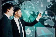 Globaal netwerk en groepswerkconcept royalty-vrije stock foto