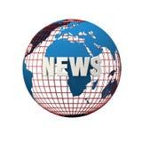 Globaal nieuws royalty-vrije illustratie