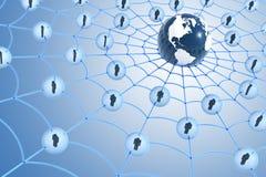 Globaal sociaal netwerkconcept stock illustratie