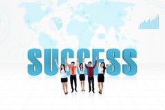 Globaal succesteam Stock Afbeeldingen