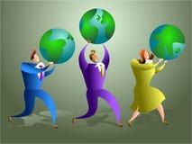 Globaal team royalty-vrije illustratie