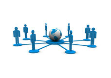 Globaal Team vector illustratie