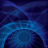 Globaal technologie abstract behang Royalty-vrije Stock Fotografie