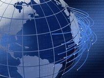 Globaal telecommunicatieontwerp als achtergrond Stock Foto's